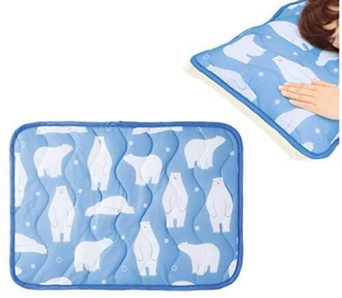 触れた瞬間北極気分 白クマ柄 ひんやり 冷感 枕カバー 枕パッド 熱帯夜対策 丸洗い可,ひんやり枕,