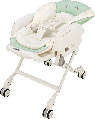 コンビ Combi ハイローベットチェアー ネムリラ エッグショック CE ミルキーグリーン (新生児~4歳頃対象) どこでも4輪キャスター搭載,ベビーラック,