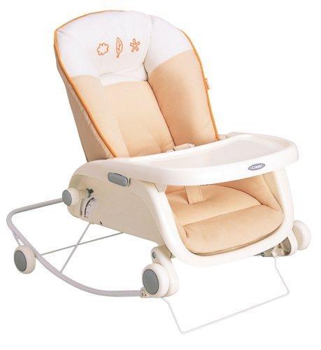 コンビ Combi ローラックチェア プルメア S ペールオレンジ (新生児~2歳頃対象) 多目的ロッキングローラック,ベビーラック,