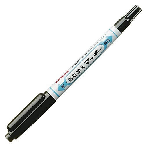 ゼブラ 油性マーカー おなまえマッキー両用 YYTS7-BK 黒,小学校  ,入学準備  ,文房具