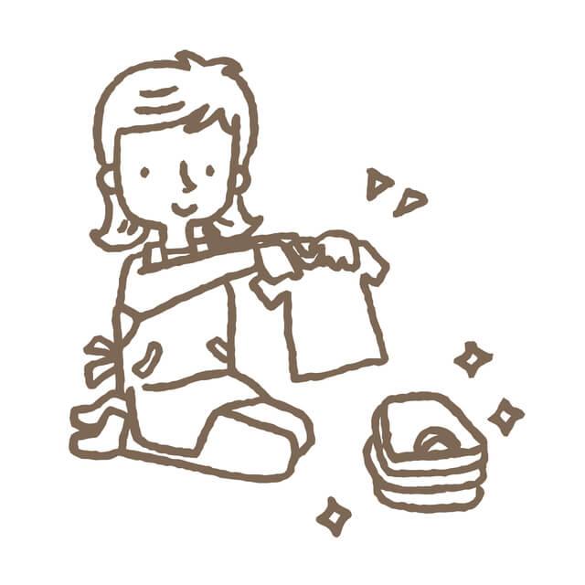 Tシャツたたむ,子供服,収納,