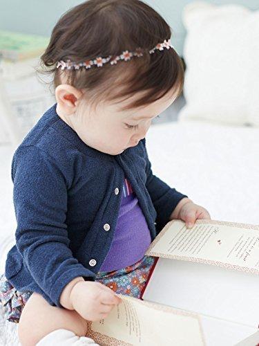 Angeliebe エンジェリーベ ベビー オリジナル カーディガン 日本製 シンカーパイル 赤ちゃん 男の子 女の子 長袖 60㎝ ネイビー 50002,赤ちゃん,カーディガン,