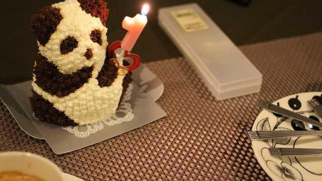 パンダケーキの写真 マイルケーキ,1歳,誕生日,選び取り