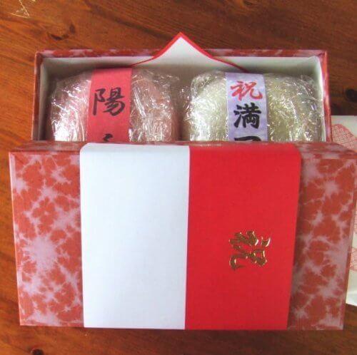 一升餅 (風呂敷付) 紅白セット 2kg,1歳の誕生日,プレゼント,飾りつけ