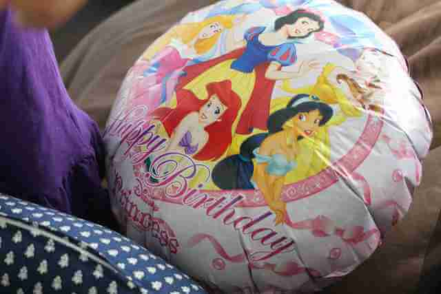 プリンセスのバルーン,100均,プチプラ,誕生日