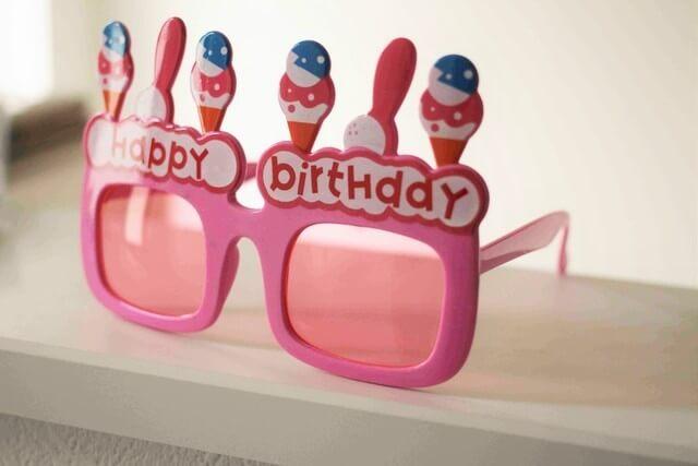 バースデーメガネ,100均,プチプラ,誕生日