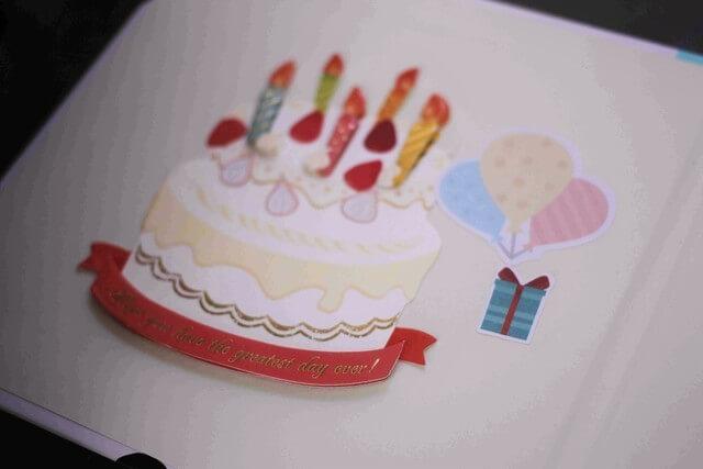 色紙とシールで誕生日ケーキ,100均,プチプラ,誕生日