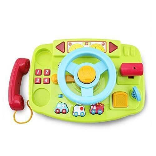 Wishtime 他社とは違う GO GO おでかけハンドル メロディ 光る 音 おもちゃ 電話 手遊びいっぱい 【お誕生日プレゼント】,1歳,おもちゃ,男の子