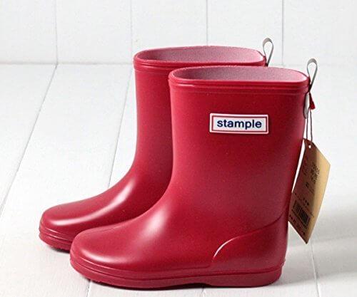 (スタンプル) Stample 日本製 レインブーツ[キッズ・ジュニア] 75005 19cm レッド,キッズ,長靴,