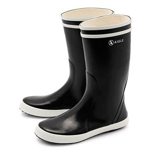 (エーグル)AIGLE ロリポップ ラバー レインブーツ キッズ 05.ノアールヴェルニ 34(21~21.5cm) [並行輸入品],キッズ,長靴,