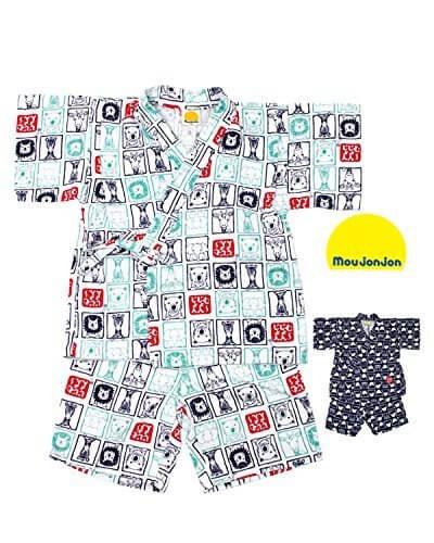 【子供服】 moujonjon (ムージョンジョン) 動物柄甚平 80cm~130cm M34150,男の子,甚平,