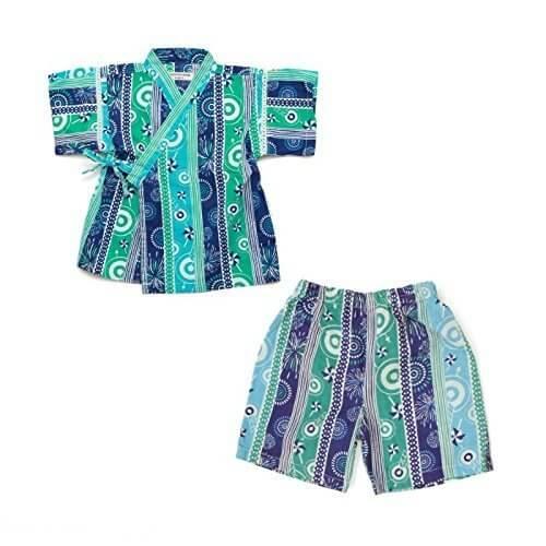 ampersand(アンパサンド) お祭り柄甚平スーツ ブルー 100cm,男の子,甚平,
