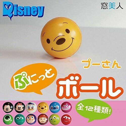 【ディズニー】お子様にも安心 可愛いぷにっとミニボール プーさん【窓美人】,ディズニー,おもちゃ,