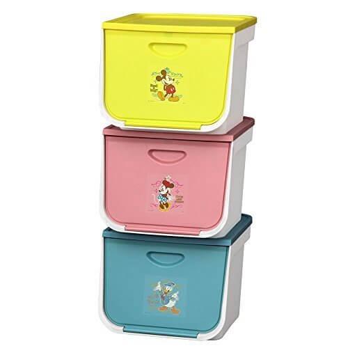 アイリスオーヤマ ボックス フラップボックス キッズ ディズニー 3個セット FLP-MK,ディズニー,おもちゃ,