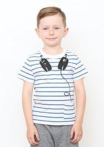 (グラニフ)graniph キッズ半袖Tシャツ / マイミュージック ( ブルー ) 120,リンクコーデ,
