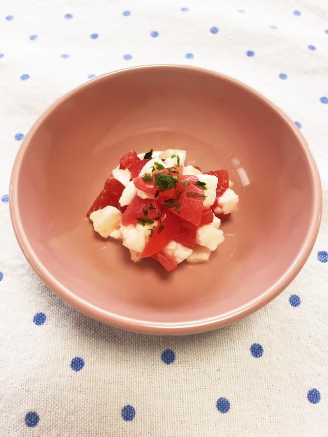 離乳食*トマトとチーズのカプレーゼ,離乳食,チーズ,