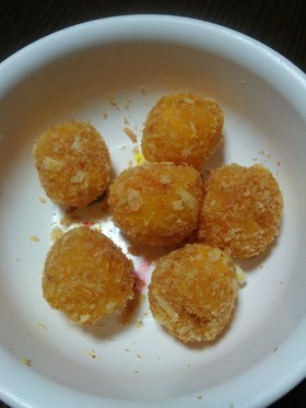 離乳食後期~☆チーズ入りかぼちゃコロッケ,離乳食,チーズ,