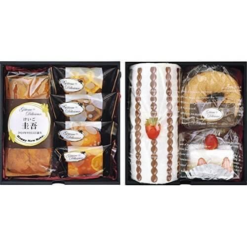 ガトー・デリシュー菓子詰合せ&ケーキタオル(お名入れ),内祝い,お菓子,