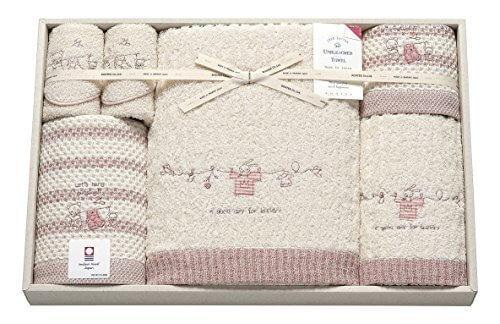 imabari towel (今治タオル) コンテックス クリスプ バスタオル入り 6点セット ピンク,今治タオル,内祝い,