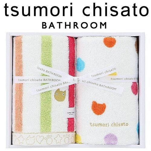 ツモリチサト tsumorichisato タオル [ネコストライプ] hg15091 タオルセット,内祝い,タオル,