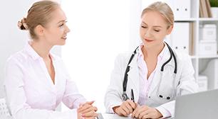 医師と女,陽性,検査薬,