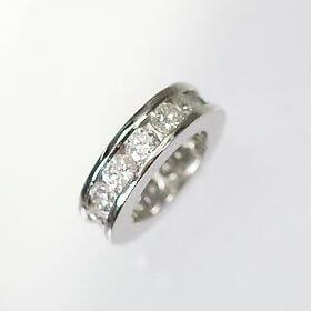 [キュートジュエリー]Cute jewerly 4月の誕生石 K18WG ダイヤモンド0.43ct ベビーリング エタニティータイプ ベビーケース(ブルー),ベビー,リング,