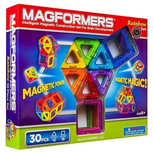 マグフォーマー 30ピース レインボーセット MAGFORMERS マグネットブロック 創造力を育てる知育玩具 【30ピース】 [並行輸入品],子ども,パズル,