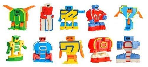 数字変形 数字ロボ 10個セットBOX,数字,おもちゃ,幼児