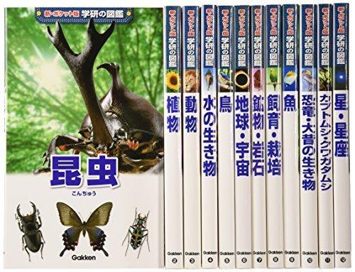 新ポケット版学研の図鑑 12巻セット,虫,図鑑,