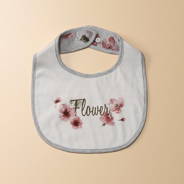 花柄プリントのリバーシブルスタイ|COMME CA ISM,出産祝い,スタイ,