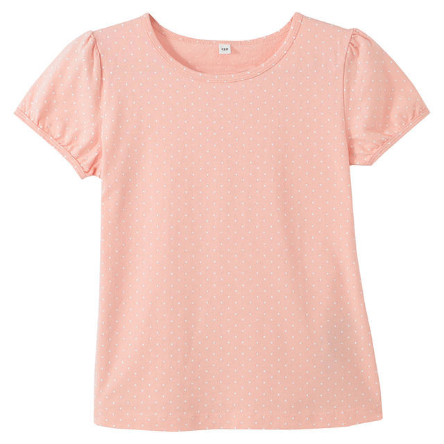 毎日のこども服パフスリーブ半袖Tシャツ|無印良品,キッズ,Tシャツ,