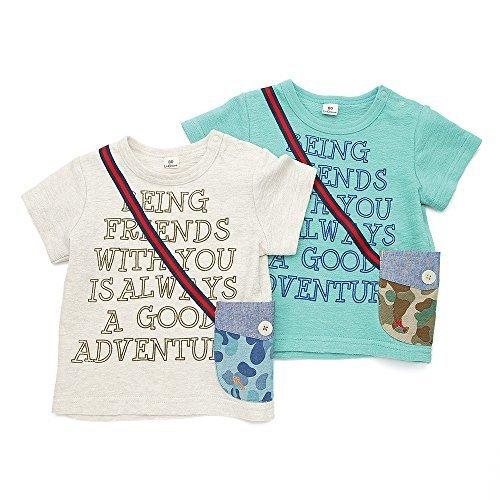 La Chiave(ラ キエーベ) 半袖Tシャツ (80~130cm) キムラタンの子供服 (53208x53408-161b) ブルーグリーン 90,キッズ,Tシャツ,