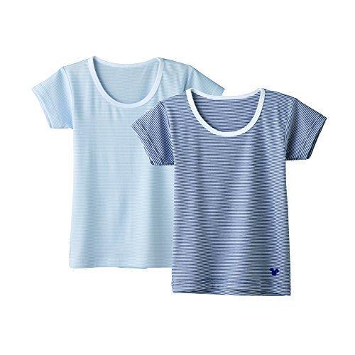 (グンゼ)GUNZE Disney(ディズニー) プレミアム ホワイト2枚組 Boys キッズ ボーダー 半袖Tシャツ DZ65B 9A イロクミAタイプ 130,キッズ,Tシャツ,