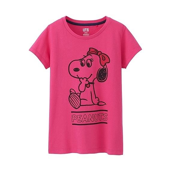GIRLS ピーナッツグラフィックT(半袖),キッズ,Tシャツ,