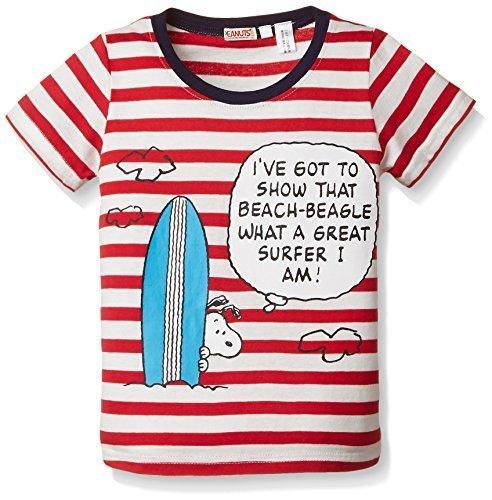 (ピーナッツ)PEANUTS(ピーナッツ) スヌーピーボーダーTシャツ 150300 12 レッド 90,キッズ,Tシャツ,