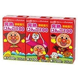 明治 それいけ!アンパンマンの完熟りんご100 125ml紙パック×36(3P×12)本入,赤ちゃん,ストロー練習,方法