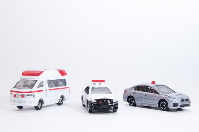 トミカのパトカーや救急車,トミカ,おもちゃ,