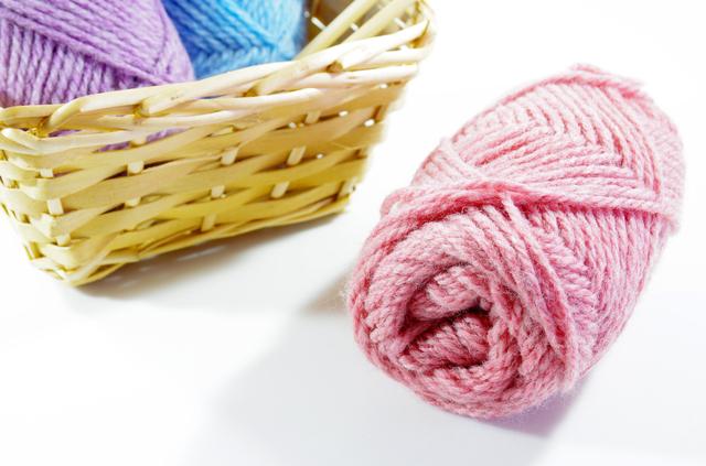 毛糸,手作り,ヘアアクセ,