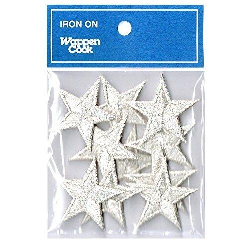 刺繍ワッペン アイロンパッチ ミニ星スター10枚セット NO-5530-10p (シルバー),手作り,ヘアアクセ,