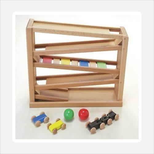 木製おもちゃのだいわ 吊橋ミニコースター,スロープトイ,