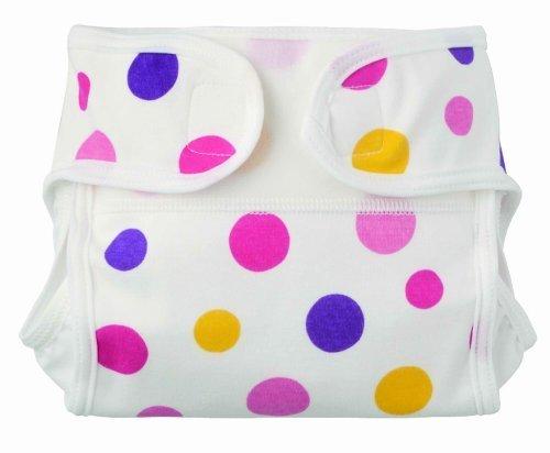 FURERUMO 布おむつカバー新生児用白地ドット柄 50-60 ピンク,布おむつ,カバー,おすすめ