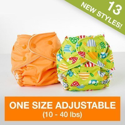 FuzziBunz Adjustable Diaper, Regatta blue, 10-40 Pound by FuzziBunz [並行輸入品],布おむつ,カバー,おすすめ