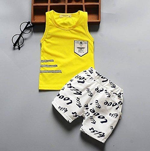 (オルル)OLULU ベビー服 上下セット セットアップ タンクトップ ズボン 2点セット ベビー 赤ちゃん キッズ 子ども 女の子 ガールズ 男の子 ボーイズ 606g088(110,イエロー),キッズ,タンクトップ,