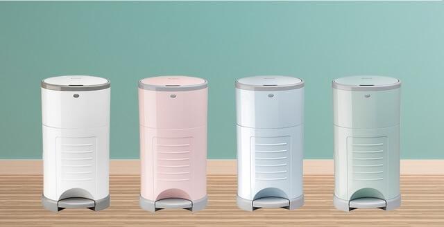 4色のおむつポット,おむつ,ゴミ箱,