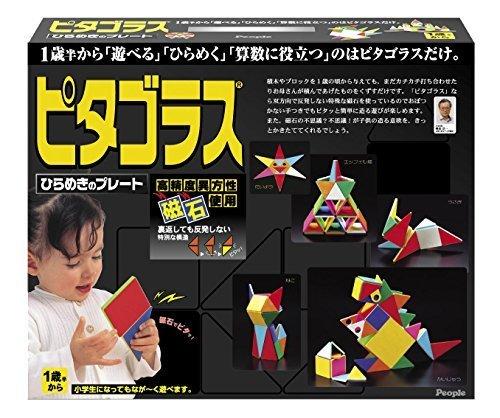ピタゴラス ひらめきのプレート,知育玩具,1歳,