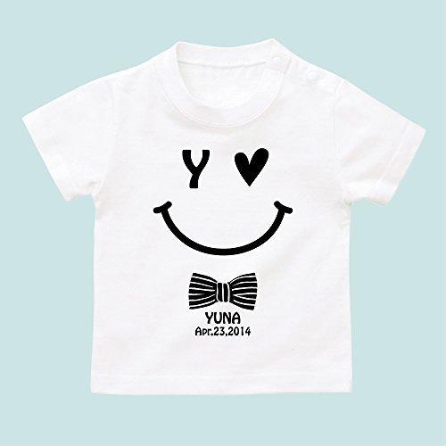 名入れ Tシャツ / ベビーサイズ [BT323] 80cm ホワイト 出産祝い 誕生日 プレゼント おしゃれな 名前入り ベビー服,出産祝い,名前入り,