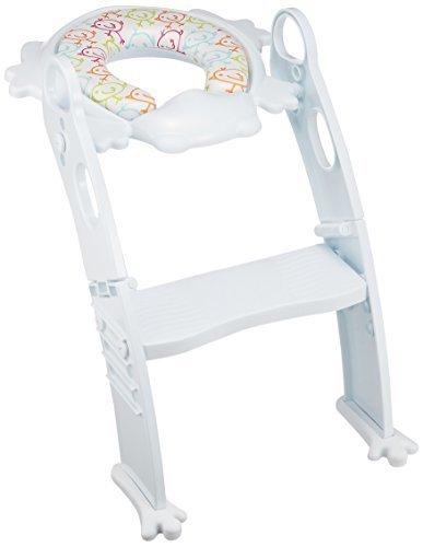 リトルプリンセス Little Princess かえるのふかふか ステップ式 トイレトレーナー ホワイト,トイレトレーニング,おまる,補助便座