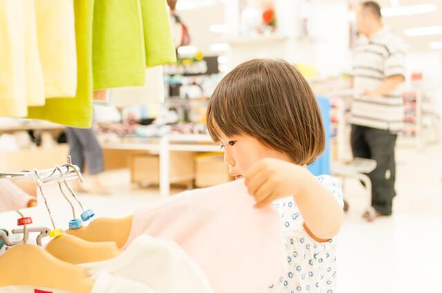 服を選ぶ子ども,ユニクロ,イベント,