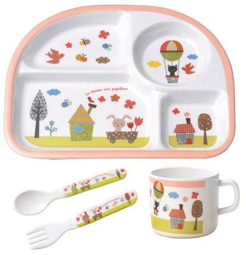 丸和貿易 ベビー食器 シェ・モワ キッチンウェア ギフトセット フラワーフィールド,出産祝い,食器,