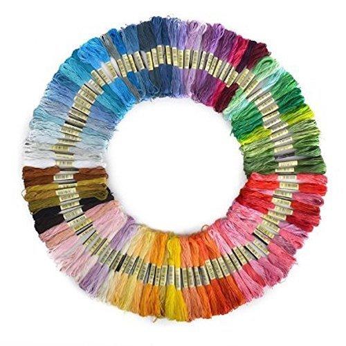 【巾着袋付き】100本98色 カラーが豊富できれい! 刺しゅう糸 まとめ買い オリジナルセット,手作り,ミサンガ,